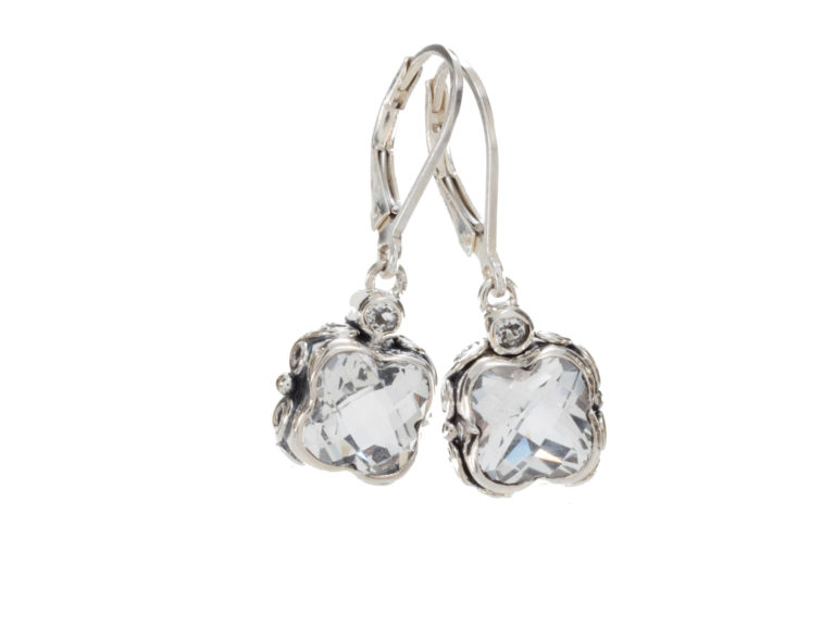 Sara Blaine Earrings - Sterling Silver - 3391XWT