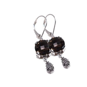 Sterling Silver w/Smoky Quartz Sara Blaine Earrings