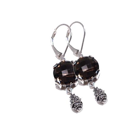 Sterling Silver w/Smoky Quartz Sara Blaine Earrings