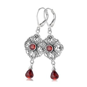 Sara Blaine Earrings - Sterling Silver - 3730