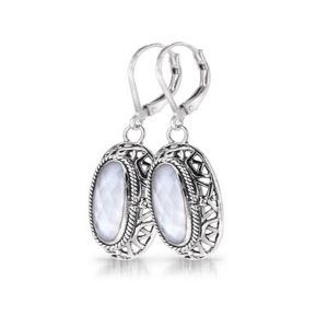 Sara Blaine Earrings - Sterling Silver - 3731WMOP