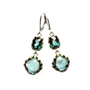 Sara Blaine Earrings - Sterling Silver with 18k Gold - 3855X