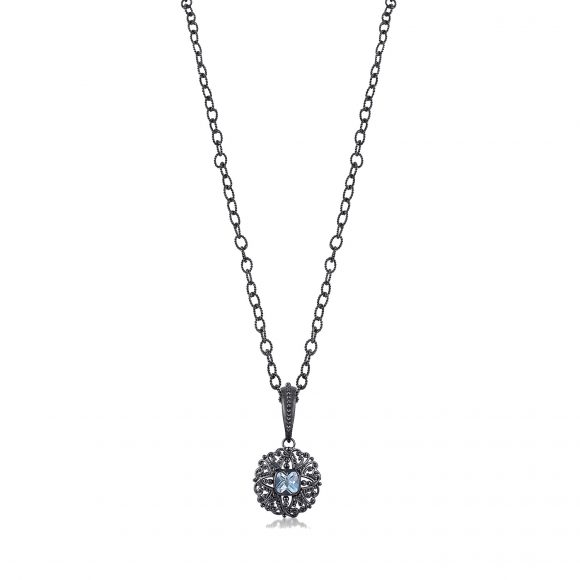Sara Blaine Necklace - Gunmetal - 7710bt-7081gmlt