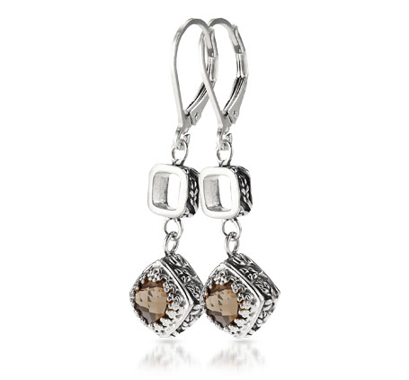 Sterling Silver Smoky Quartz Earrings