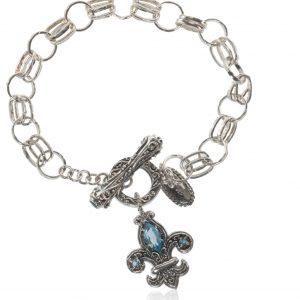 Sterling Silver Fleur D'Lys Bracelet