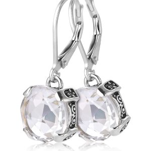 Sterling Silver White Topaz Earrings