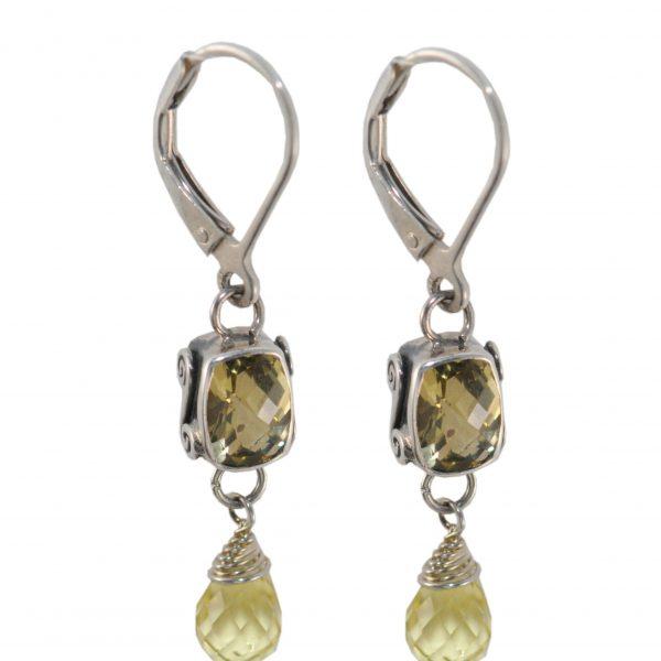 Lemon Quartz Earrings 3420 Lc